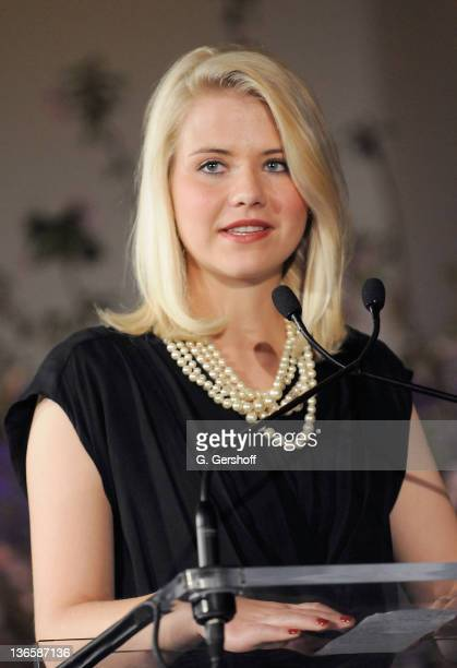 Honoree Elizabeth Smart accepts her award at the 2nd Annual Dillervon Furstenberg Awards at The United Nations on March 11 2011 in New York City