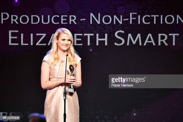 Honoree Elizabeth Smart speaks onstage at the 43rd Annual Gracie Awards at the Beverly Wilshire Four Seasons Hotel on May 22 2018 in Beverly Hills...
