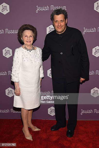 Honoree Elizabeth Wilf and fashion designer Isaac Mizrahi attend the Jewish Museum's Purim Ball at the Park Avenue Armory on February 24 2016 in New...