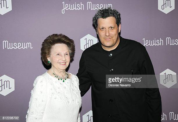 Honoree Elizabeth Wilf and fashion designer Isaac Mizrahi attend The Jewish Museum's Purim Ball 2016 at Park Avenue Armory on February 24 2016 in New...
