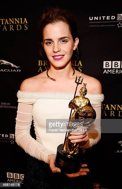 Honoree Emma Watson recipient of the Britannia Award for British Artist of the Year presented by Burberry attends the BAFTA Los Angeles Jaguar...