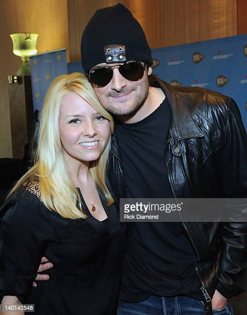 Honoree Eric Church and Kathrine Church at BMI's Party For Eric Church's Drink In My Hand at BMI on February 28 2012 in Nashville Tennessee