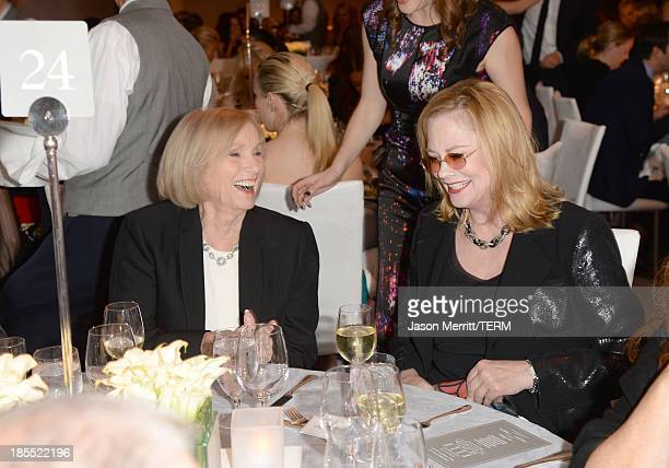 Honoree Eva Marie Saint and actress Cybill Shepherd attend ELLE's 20th Annual Women In Hollywood Celebration at Four Seasons Hotel Los Angeles at...