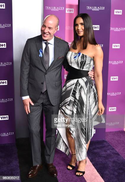 Honoree Executive Director of the American Civil Liberties Union Anthony D Romero and Presenter author Padma Lakshmi attend VH1 Trailblazer Honors...