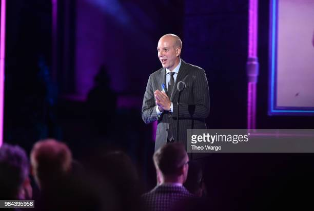 Honoree Executive Director of the American Civil Liberties Union Anthony D Romero speaks on stage during VH1 Trailblazer Honors 2018 at The Cathedral...