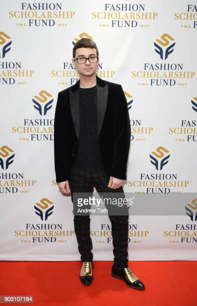 Honoree Fashion Designer Christian Siriano attends the 81st Annual YMA Fashion Scholarship Fund National Merit Scholarship Awards Dinner at Marriott...