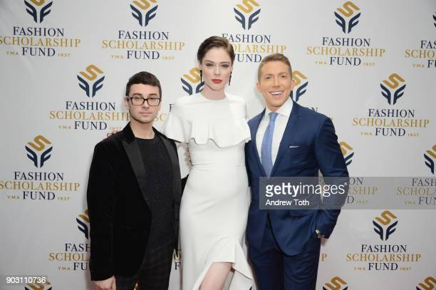 Honoree Fashion Designer Christian Siriano Presenter Model Coco Rocha and Baruch Shemtov attend the 81st Annual YMA Fashion Scholarship Fund National...