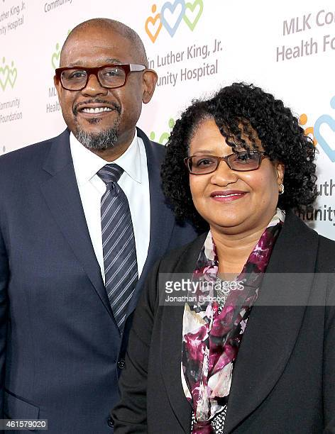 """Honoree Forest Whitaker and Dr Elaine Batchlor attend MLK """"Celebrating The Dream"""" luncheon at Dorothy Chandler Pavilion on January 15, 2015 in Los..."""