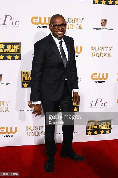 Honoree Forest Whitaker attends the 19th Annual Critics' Choice Movie Awards at Barker Hangar on January 16 2014 in Santa Monica California