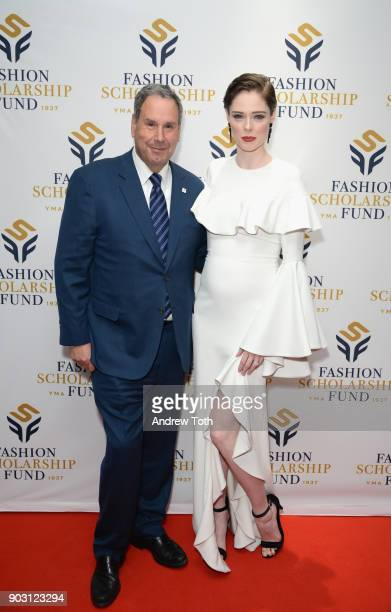 Honoree Former Chairman CEO of Saks Inc Stephen Sadove and Presenter Model Coco Rocha attend the 81st Annual YMA Fashion Scholarship Fund National...