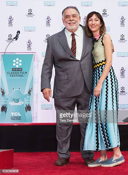 Honoree Francis Ford Coppola and granddaughter Gia attend the Hand/Footprint Ceremony by TCM at TCL Chinese Theatre IMAX on April 29 2016 in...