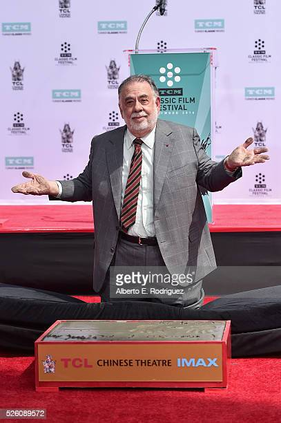Honoree Francis Ford Coppola attends the Francis Ford Coppola Hand and Footprint Ceremony during the TCM Classic Film Festival 2016 on April 29 2016...