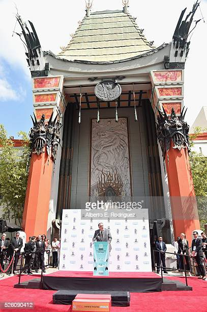 Honoree Francis Ford Coppola speaks onstage during the Francis Ford Coppola Hand and Footprint Ceremony during the TCM Classic Film Festival 2016 on...