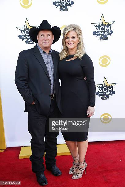 Honoree Garth Brooks and singer Trisha Yearwood attends the 50th Academy of Country Music Awards at ATT Stadium on April 19 2015 in Arlington Texas