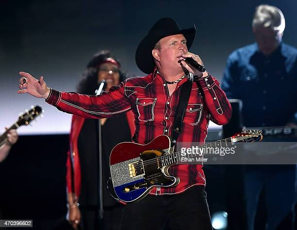 Honoree Garth Brooks performs onstage during the 50th Academy of Country Music Awards at ATT Stadium on April 19 2015 in Arlington Texas