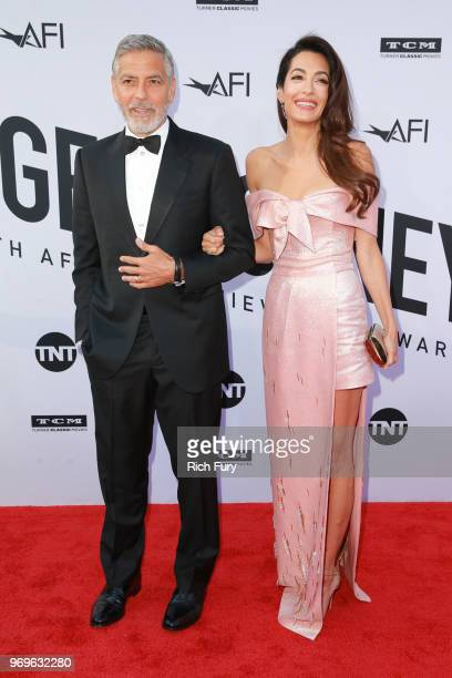 Honoree George Clooney and Amal Clooney attend the American Film Institute's 46th Life Achievement Award Gala Tribute to George Clooney at Dolby...