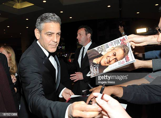 Honoree George Clooney attends the 2013 BAFTA LA Jaguar Britannia Awards with Jaguar North America at The Beverly Hilton Hotel on November 9 2013 in...