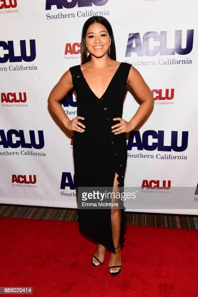 Honoree Gina Rodriguez attends ACLU SoCal Hosts Annual Bill of Rights Dinner at the Beverly Wilshire Four Seasons Hotel on December 3 2017 in Beverly...