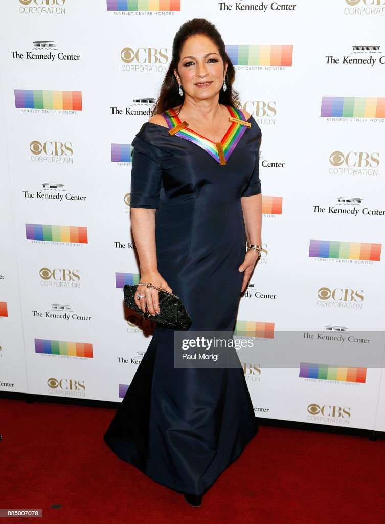 Honoree Gloria Estefan attends the 40th Kennedy Center Honors at the Kennedy Center on December 3, 2017 in Washington, DC.