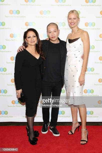 Honoree Gloria Estefan Jason Wu and honoree Karolina Kurkova attend the 2018 Teens For Food Justice Gala Feast 2018 With Chef David Laris at Tribeca...