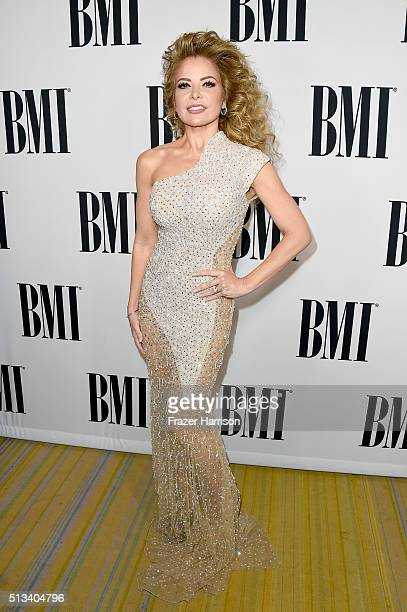 Honoree Gloria Trevi attends the 2016 BMI Latin Awards on March 2 2016 in Los Angeles California