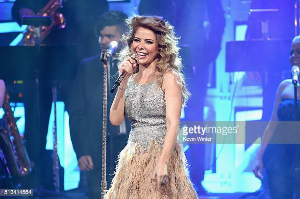 Honoree Gloria Trevi performs onstage during the 23rd Annual BMI Latin Awards at the Beverly Wilshire Four Seasons Hotel on March 2 2016 in Beverly...