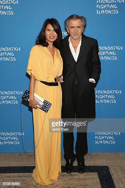 Honoree Goga Ashkenazi and Event Chair Bernard HenriLevy attend the 2016 Foundation Fighting Blindness World Gala at Cipriani Downtown on April 12...