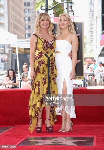 Honoree Goldie Hawn and actor Kate Hudson at Goldie Hawn and Kurt Russell are honored with a Star On the Hollywood Walk of Fame on May 4 2017 in...