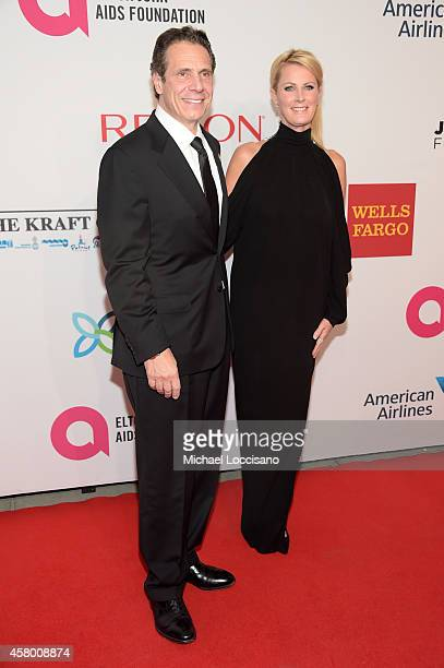 Honoree governor Andrew M Cuomo and Sandra Lee attend the Elton John AIDS Foundation's 13th Annual An Enduring Vision Benefit at Cipriani Wall Street...