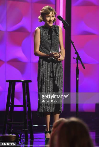 Honoree Grace VanderWaal accepts the Rising Star Award onstage at Billboard Women In Music 2017 at The Ray Dolby Ballroom at Hollywood & Highland...