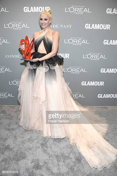 Honoree Gwen Stefani poses with an award during Glamour Women Of The Year 2016 at NeueHouse Hollywood on November 14 2016 in Los Angeles California