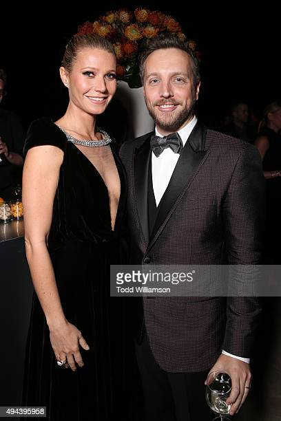 Honoree Gwyneth Paltrow and Editorial Director InStyle and People Stylewatch Ariel Foxman attend the InStyle Awards at Getty Center on October 26...