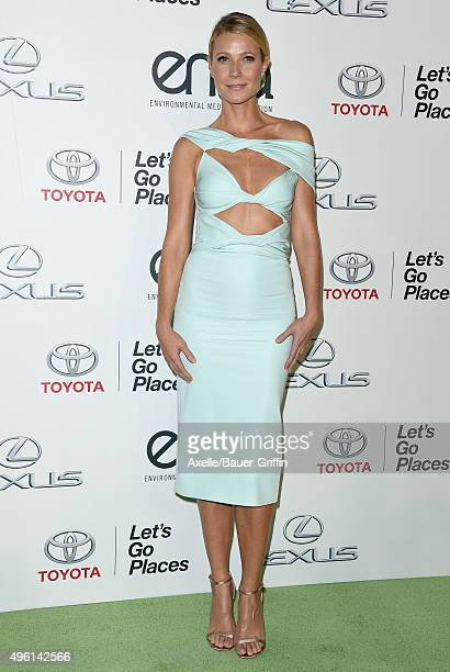 Honoree Gwyneth Paltrow attends the 25th annual EMA Awards presented by Toyota and Lexus and hosted by the Environmental Media Association at Warner...