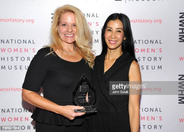Honoree Gwynne Shotwell and presenter Lisa Ling at the Women Making History Awards at The Beverly Hilton Hotel on September 16 2017 in Beverly Hills...