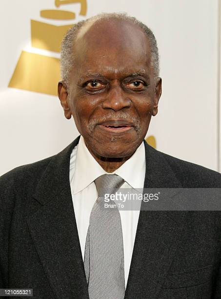 Honoree Hank Jones arrives at The Recording Academy's Special Merit Awards Ceremony at Wilshire Ebell Theater on February 7 2009 in Los Angeles...