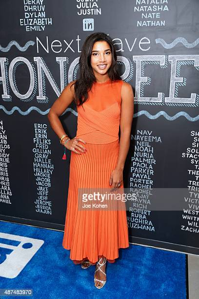 Honoree Hannah Bronfman founder of HBFitcom attends LinkedIn Next Wave at The Empire State Building on September 9 2015 in New York City