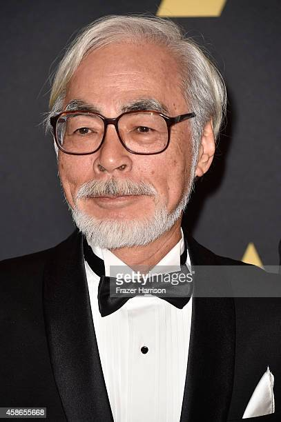 Honoree Hayao Miyazaki attends the Academy Of Motion Picture Arts And Sciences' 2014 Governors Awards at The Ray Dolby Ballroom at Hollywood Highland...