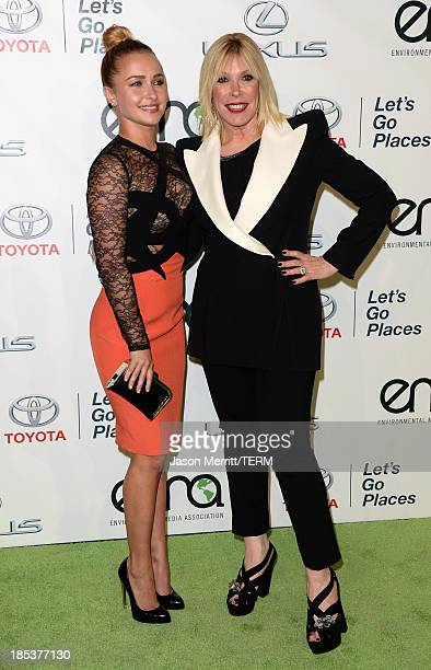 Honoree Hayden Panettiere and Environmental Media Association President Debbie Levin arrive at the 23rd Annual Environmental Media Awards presented...