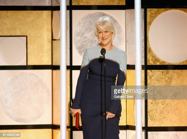 Honoree Helen Mirren attends AARP The Magazine's 17th Annual Movies For Grownups Awards at the Beverly Wilshire Four Seasons Hotel on February 5 2018...