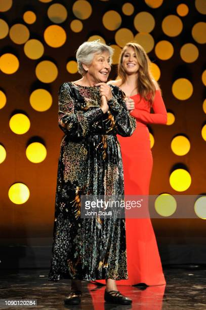 Honoree Helen Reddy is seen onstage during the 2019 G'Day USA Gala at 3LABS on January 26, 2019 in Culver City, California.