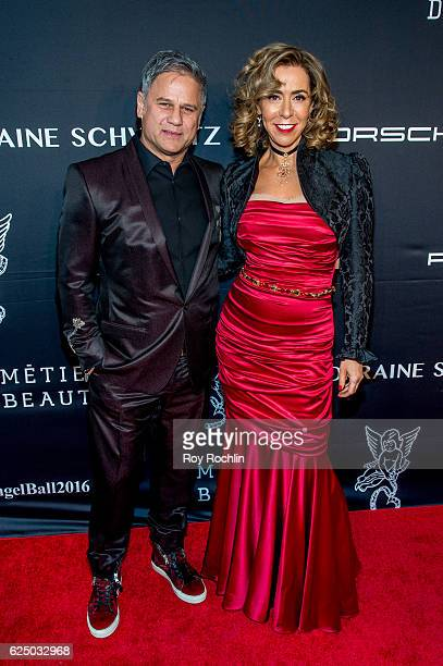 Honoree Heloise Pratt and Jon Stevens and Bobby Zarin attend the 2016 Angel Ball at Cipriani Wall Street on November 21 2016 in New York City