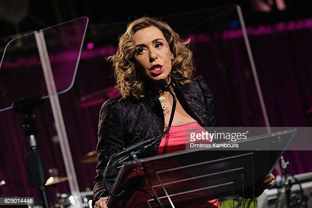 Honoree Heloise Pratt speaks onstage at the 2016 Angel Ball hosted by Gabrielle's Angel Foundation For Cancer Research on November 21 2016 in New...