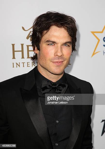 Honoree Ian Somerhalder attends Heifer International's 3rd Annual 'Beyond Hunger A Place At The Table' Gala at Montage Beverly Hills on August 22...