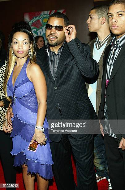 Honoree Ice Cube and family arrive at the 19th annual Soul Train Music Awards at Paramount Studios on February 28 2005 in Los Angeles California
