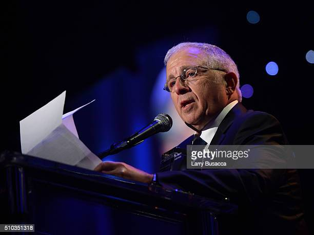 Honoree Irving Azoff accepts the Recording Academy President's Merit Award onstage during the 2016 PreGRAMMY Gala and Salute to Industry Icons...