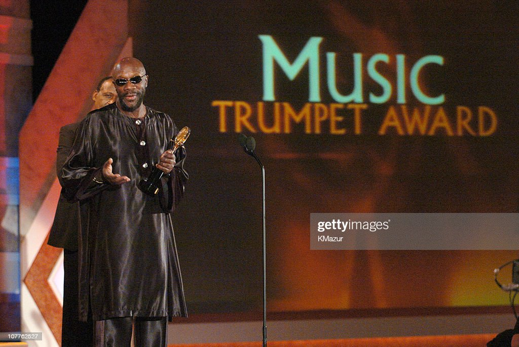 Honoree Isaac Hayes during The 2004 Trumpet Awards - Show at Omni Hotel in Atlanta, Georgia, United States.