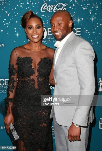 Honoree Issa Rae and Louis Diame at Essence Black Women in Hollywood Awards at the Beverly Wilshire Four Seasons Hotel on February 23, 2017 in...