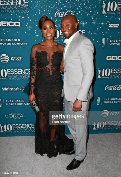 Honoree Issa Rae and Louis Diame at Essence Black Women in Hollywood Awards at the Beverly Wilshire Four Seasons Hotel on February 23 2017 in Beverly...