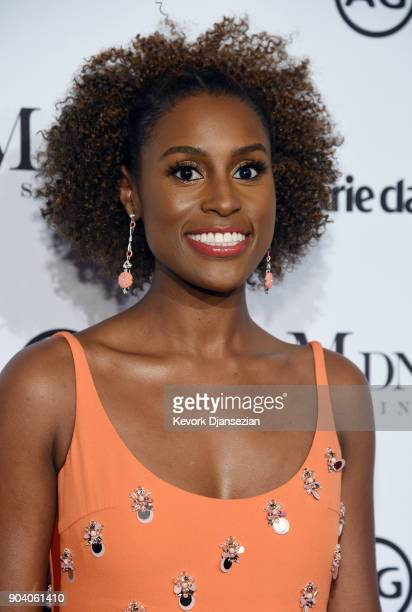 Honoree Issa Rae attends the Marie Claire's Image Makers Awards 2018 at Delilah LA on January 11 2018 in West Hollywood California