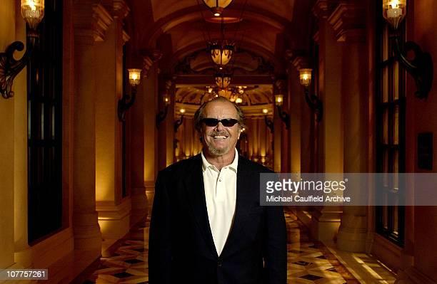 Honoree Jack Nicholson during CineVegas 2004 Portrait Studio Day 8 at The Venetian Hotel in Las Vegas Nevada United States